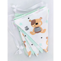 copy of Pennant Garland: Powder pink and mint: Deers :) - 1