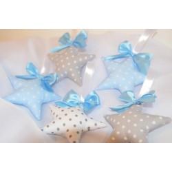 Słodkie gwiazdki 3D błękit-szary
