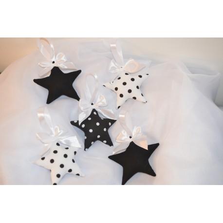 Słodkie gwiazdki 3D Kontrast biało-czarne