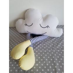 Podusia Chmurka Pasiasta :) Granatowo-białe rajtuzki, żółte skarpetki i czarująca mucha :)