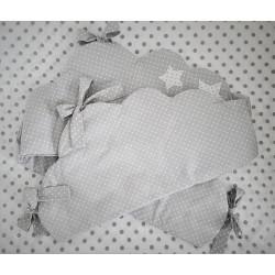 Ochraniacz Chmurka :) Szary w białe kropeczki