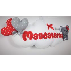 Dekoracja 3D Myszka :) Czerwień i Szary