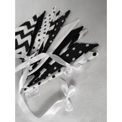 Girlanda kontrastowa z proporczyków: biało-czarna