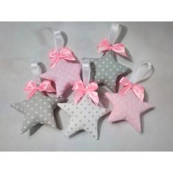Słodkie gwiazdki 3D delikatny-róż