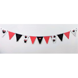 Pennant Garland: Powder pink and mint: Deers :)