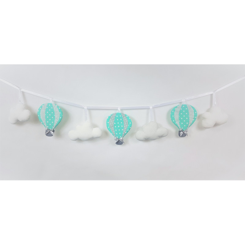 Garland with balloons :) Mint-Grey - 1