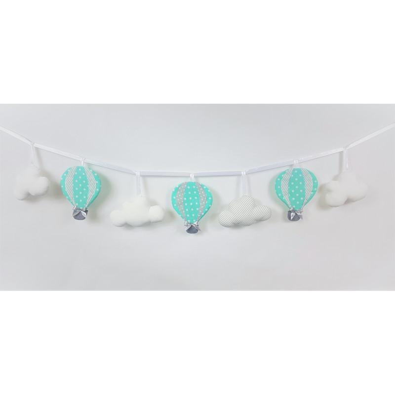 Girlande mit Luftballons :) Mint-Grau - 1