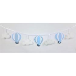 Girlanda z balonami :)  Błękit, biały i szary - Girlanda z balonami :) błękit, biały , szary