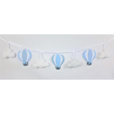 Girlande mit Luftballons :) Blau, weiß und grau - 1