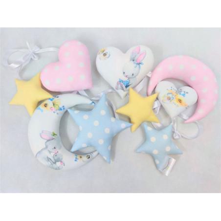 Girlanda pastelowa z króliczkami :) - Girlanda pastelowa z króliczkami :)