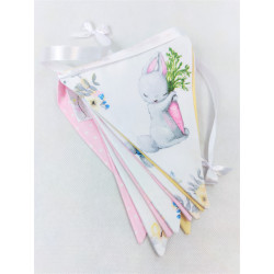 copy of Pennant Garland: Powder pink and mint: Deers :) - 3