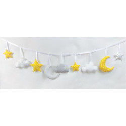 copy of Cloud garland :) Blue, white and grey - 2