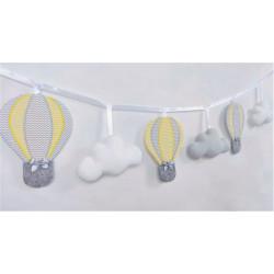 Girlanda z balonami :)  Żółto-Szara - Girlanda z balonami :) żółto-szara