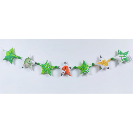 Girlanda z pomponikami: Dinozaury :) - Girlanda z pomponikami: Dinozaury