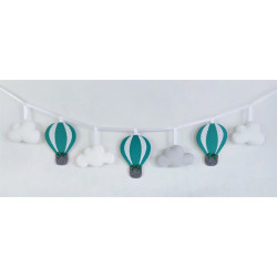 copy of Garland with balloons :) Blue, white and grey - 1
